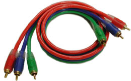 RGB COMPONENT VIDEO CABLES