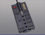 8 Outlet Surge Suppressor w/ Telephone, Network and Video Protection